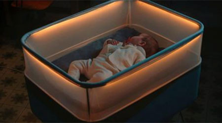 High Tech Crib Simulates Car Ride. And You'll Never Guess Who Designed It!