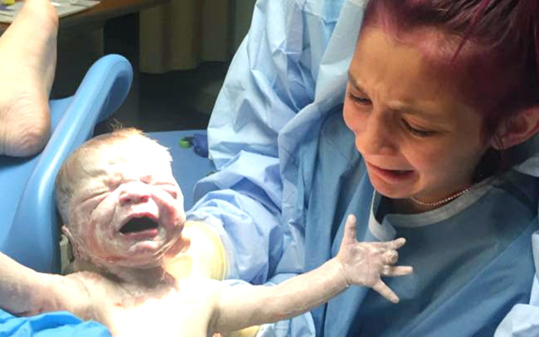 12 Year Old Girl Helps Deliver Her Baby Brother in an Experience of a Lifetime!
